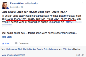 mendatangkan trafiic dan video view dengan viral post, the graph